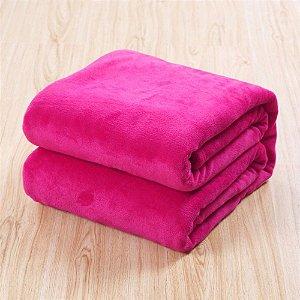 Manta Microfibra Lisa  Casal Rosa Pink