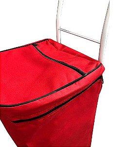 Bolsa De Carrinho De Feira Vermelho