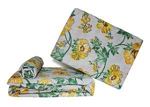 Jogo de Lençol - Casal (Flores Amarelas)