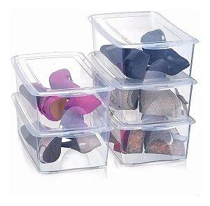 Kit 5 Caixa Organizadora para Sapatos Transparente
