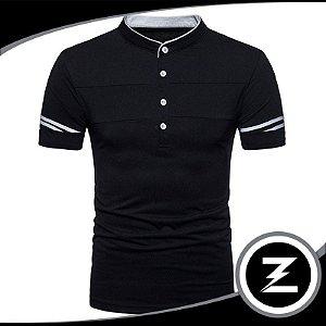Camisa Polo Slim Po001 Com Elastano Camiseta Masculina