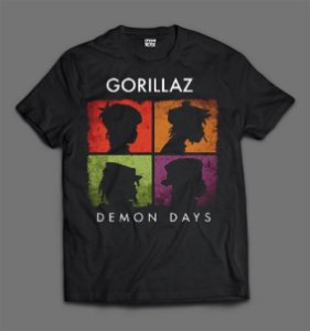 Camiseta - Gorillaz - Demon Days