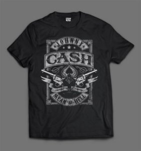 Camiseta - Johnny Cash - Logo
