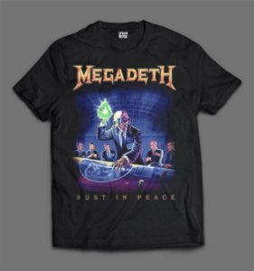 Camiseta - Megadeth - Rust in Peace.