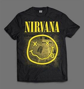 Camiseta - Nirvana - Jornal