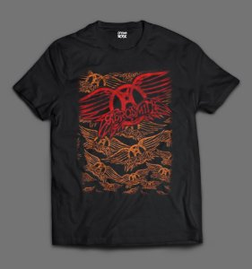 Camsieta Aerosmith - Logo