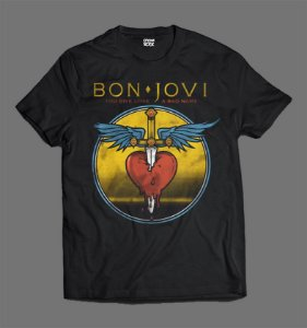 Camiseta - Bon Jovi - Give a Love a Bad Name
