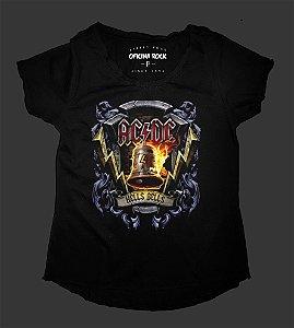 Camiseta - Bata Feminina - AC/DC - Hells Bells