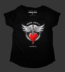 Camiseta - Bata Feminina - Bon Jovi