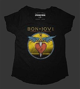 Camiseta - Bata Feminina - Bon Jovi - Give a Love