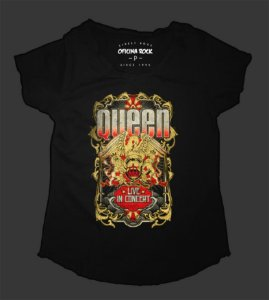 Camiseta - Bata Feminina - Queen Tour