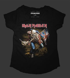 Camiseta - Bata - Feminina - Iron Maiden The Trooper