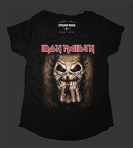 Camiseta - Bata - Feminina - Iron Maiden - Finger
