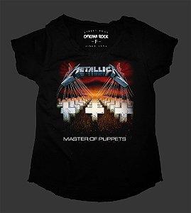 Camiseta - Bata - Feminina - Metallica - Master of Puppets