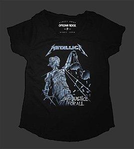 Camiseta - Bata - Feminina - Metallica and Justice for All