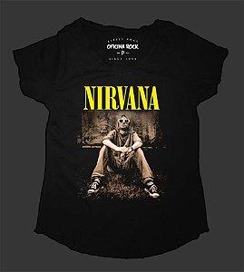 Camiseta - Bata Feminina - Nirvana Kurt