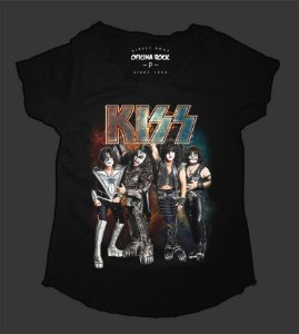 Camiseta - Bata Feminina - Kiss - End of the Road Tour