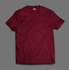 Camiseta Lisa -  Bordo/Vinho