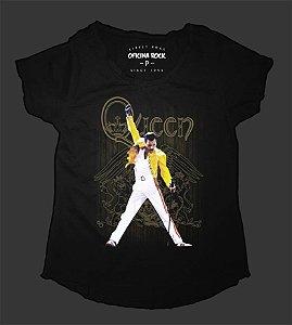Camiseta - Bata Feminina - Queen Live Aid