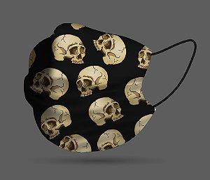 Máscara de Proteção - Caveira Preta