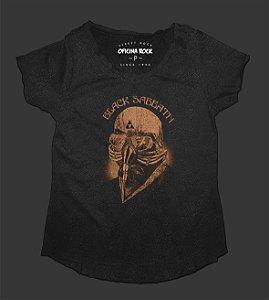 Camiseta - Bata Feminina Especial - Black Sabbath Tour