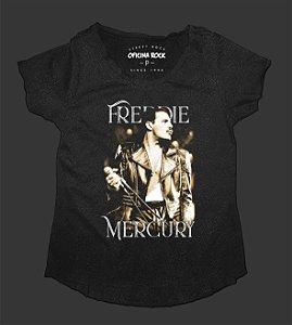 Camiseta - Bata Feminina Especial - Freddie Mercury - Queen