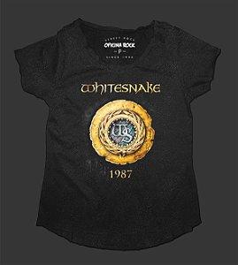 Camiseta - Bata Feminina Especial - Whitesnake