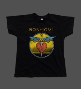 Camiseta - Babylook - Bon Jovi - Give Love a Bad Name