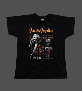 Camiseta - Babylook - Janis Joplin - Tour
