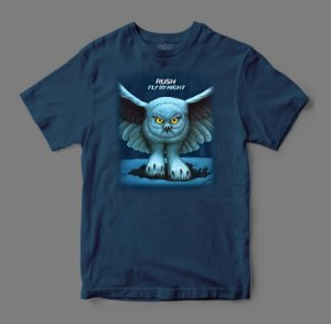Camiseta Oficial - Rush - Fly By Night