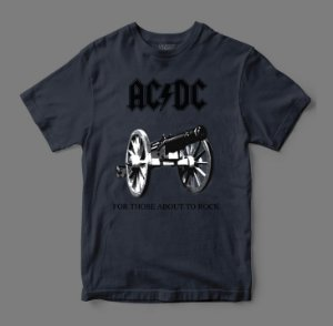 Camiseta Oficial - AC/DC - For Those About to Rock