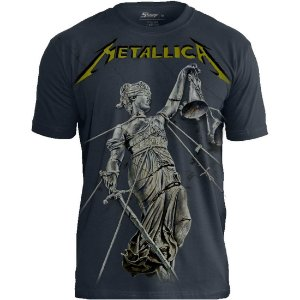 Camiseta Oficial - Metallica - And Justice for All - Premium