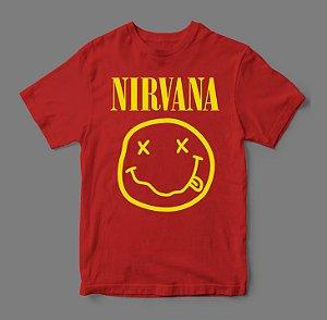 Camiseta - Nirvana Smile - Vermelha