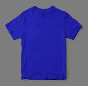 Camiseta Lisa -  Azul