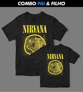 Combo Pai & Filho - Camiseta - Nirvana