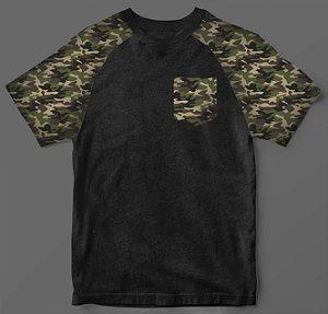 Camiseta - Casual - Camuflada