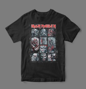 Camiseta Oficial - Iron Maiden - Eddies