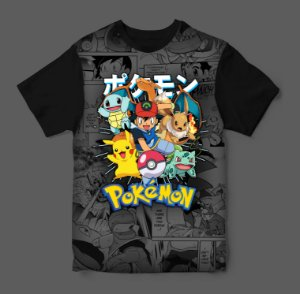 Camiseta - Pokemon - Ash