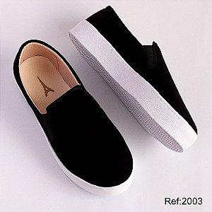 Tênis Slip-on Black Confort