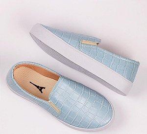 Tênis Slip-on Croco Azul