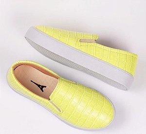 Tênis Slip-on Croco Amarelo