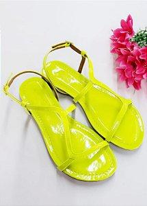 Rasteirinha Neon Yellow