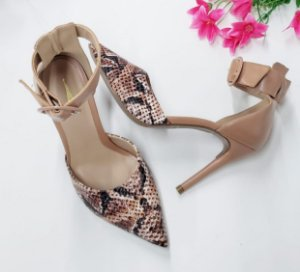 Chanel Nude Animal Print com Salto 10 cm
