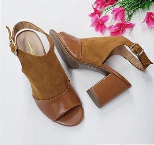 Ankle Boot Nobook Caramelo com PU Salto 7 cm