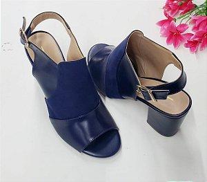 Ankle Boot Nobook Azul com PU Salto 7 cm