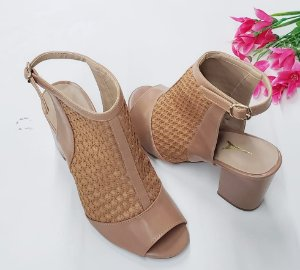 Ankle Boot Nude Rustic Salto 7 cm