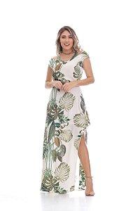 Vestido Clara Arruda longo ombros decote 50409