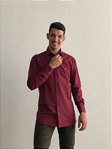 Camisa Masculina Manga Longa Vinho