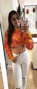 Blusão Cropped Feminino Tie Dye Hering + Camila Coutinho