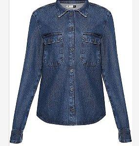 Camisa Jeans feminina em tecido de algodão